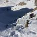 TeamMoomin im steilen und langen Aufstieg vom Witenwasserenpass zum Passo Superiore di Pesciora.