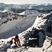 Sclussaufstieg zum Piz Ravetsch mit einer kurzen IIer Kletterstelle.