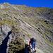 Ausgesetzter Aufstieg: Weit oben wartet der Gamsberg-Gipfel