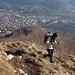 Monte Cereto: dicesa verso Albino
