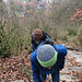 Im Aufstieg von Egerkingen auf in Stein gehauenen Stufen.