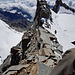 der ungefähre Abstiegsweg vom Roc zum Finestra (Zoom)