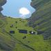 Tiefblick vom Mörderwägli zur Alp Fälen