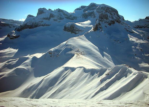Blick vom Chaiserstuel auf Bannalper Schonegg und den Ruchstock