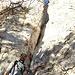 Einstieg zum Drachenloch (mit Schildli markiert)