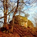 Von der Frankenburg sind nur noch ganz wenige Mauerreste und Spuren im Felsen vorhanden. Die Frankenburg bestand aus einer Oberburg, auf der zwanzig Meter langen und bis zu 6,80 Meter breiten Felsplattform, und einer Unterburg, die sich um den Felsen herumzog.