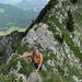 Auf dem schmalen Grat zwischen Oberwis und dem Fusse des Lütispitzes