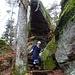 Die WebeBe im Abstieg vom Stollhafen.