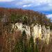 Gipfelbucherrichtung Schauenburgfluh vom 1.3.2020:<br /><br />Die Felsen der Schauenburgfluh gesehen vom Chliflueli bei der Ruine Alt Schauenburg (645m).