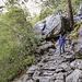 """Im """"Regenwald"""" unterhalb des Wasserfalls. 100 m vorne- und hintedran war es wieder komplett trocken"""