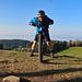 mein Mountain Bike und ich auf dem Kaienspitz