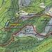 Meine Route rot/blau eingezeichnet.