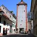 Das Stadttor am östlichen Rand der Altstadt Rheinfeldens (265m).