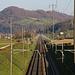 Schnurgerade Eisenbahnstrecke vor der Mumpferflue (510,7m).