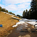 Bei Leimere auf 1630m parkierte ich mein Fahrrad, ab hier ging es zu Fuss weiter zum Gemmenalphorn.
