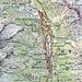 Rote Linie: meine Wanderung von Mesocco nach Plan San Giacomo