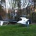 Helikopter auf einem Feld an dem ich unterwegs nach Wilderswil vorbei fuhr.