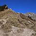 Blick vom Rengglipass (1879m) über den langen Südgrat der sich zum Gipfel des Morgenberghorns (2248,8m) hinaufzieht. Der Gipgel ist ganz hinten am Gratende sichtbar.