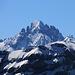 Morgenberghorn (2248,8m): Gipfelaussicht im Zoom aufs Gspaltenhorn (3436,1m).