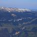 Morgenberghorn (2248,8m):  Gipfelaussicht nach Norden zum Güggisgrat mit Burgfeldstand (2062,7m) und Gemmenalphorn (2061,4m).