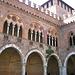 Castello viscontea di Pavia: particolare del loggiato. (Foto d'archivio)