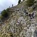 Es herrscht Andrang am leichten Klettersteig zum Manndl