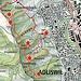 Karte: Querpfad Baldern und Zustiegswege. Empfehlung: Aufstieg via Langweid, Ausstieg südlich ehemaliges Restaurant Baldern