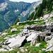 Ruinen ca 1930m südlich unterhalb Corte di Barbüi - Merkpunkt im Abstieg