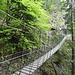 Die Hängebrücke am Jägersteig...