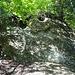 auf dem idyllischen, etwas versteckten, Steiglein sind schöne Felsen ...