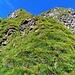 ...auf einer steilen Rippe im 50°-Bereich auf guten Tritten...