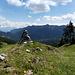 Gipfelmarkierung Bremeneck. Rechts daneben findet man auch noch einen Markierungsstein.