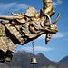 Un détail du temple du Jokhang, sur la place du Barkhor