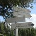 in der Scharte oberhalb der Gatter-Alpe<br />die angeschriebnen Wegezeiten sind recht hilfreich zum Abgleich mit der eigenen Planung