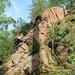 Felspartie aus Granitporphyr