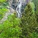 ein erster Blick auf den Wasserfall