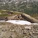 Auf dem Abstieg vom Pazzolastock trifft man immer wieder auf alte Befestigungen aus dem 1. Weltkrieg.