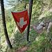 Die bekannte Fahne im Gitzitritt.