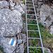 Rätzelen Leiter auf den Bleikigrat hinauf.