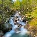 Il torrente che scende dall'Alpe Lendine, che viene attraversato un paio di volte su comodi ponticelli. (foto Fabio).
