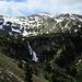 Ein Wasserfall als Auslauf des oberen Murgsee