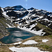 der weltbekannte Härzlisee im Calancatal: Lag de Calvaresc; in der Mitte der Piz de l' Ardion, welchen wir auch noch besteigen werden - kein Mensch weit und breit...