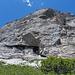 Der Felsabbruch des Sex Riond zieht sich um den ganzen Berg