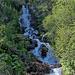 Schöner Wasserfall in der Nähe der Baita Cucurei