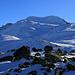 Foto vom 1. Besteigungsversuch am 5.1.2020 mit Ski:<br /><br />Im Sattel P.2563m erreichte ich unter dem Piz Dora flacheres Gelände und sah nun erstmals dem Piz Turettas (2963m) in seiner ganzen Grösse.