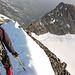 Abstieg zum Pass da Zupò, vorne der schöne Aufstieg zum Bellavista Hauptgipfel