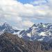 Blick hinüber zur Schesaplana und dem Panüeler Kopf, der Berg im Vordergrund wir wahrscheinlich der Tuklar sein.