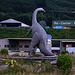 Passend zu den Sauerierknochenfunden steht in Frick (344m) ein Dino in einem Kreisel.