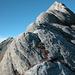 Wunderbar rauhe Marmorbuckel am Rossa-E-Grat laden zu Genusskletterei ein