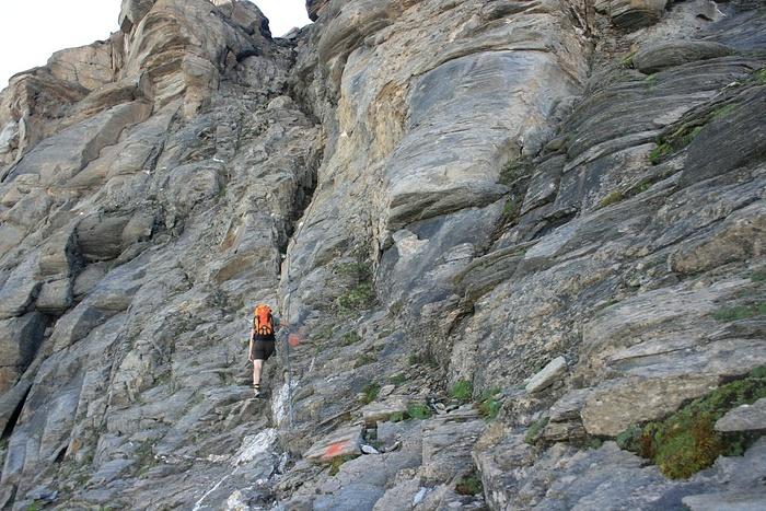 Felsrinne nach dem Heinrich Schwaiger Haus Fotos